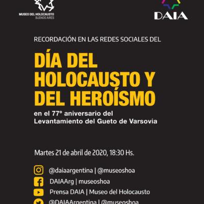 Conmemoración del Día del Holocausto a través de las redes sociales