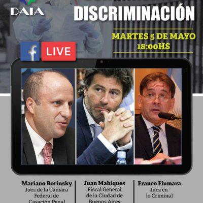 Conferencia virtual de la DAIA: Coronavirus y discriminación