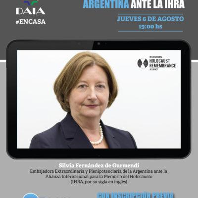 La DAIA realizará el encuentro virtual «Diálogo con la Embajadora argentina ante la IHRA»