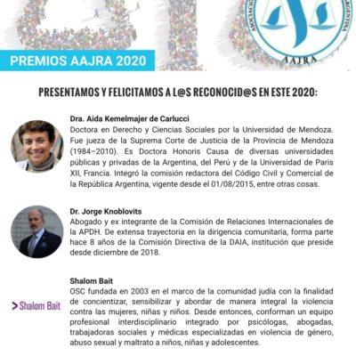 La Asociación de Abogados Judíos de la Argentina premiará al presidente de la DAIA