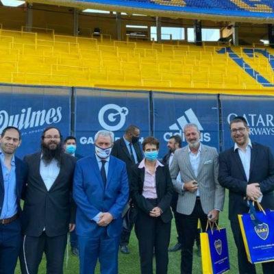 La DAIA encendió una vela en el acto de Janucá en Boca Juniors