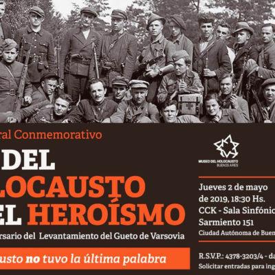 La DAIA organiza el Acto Central en el Día del Holocausto