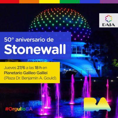 La DAIA conmemorará el 50° Aniversario de Stonewall