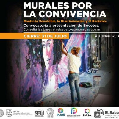 "Convocatoria: Se relanza la campaña ""Murales por la convivencia"""