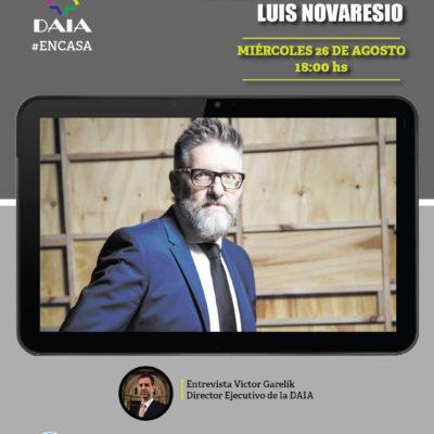 La DAIA invita a un encuentro virtual con el periodista Luis Novaresio