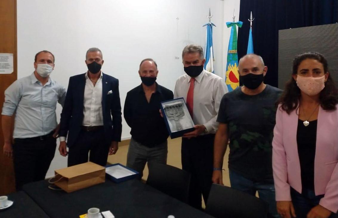 Knoblovits visitó la comunidad judía de Bahía Blanca