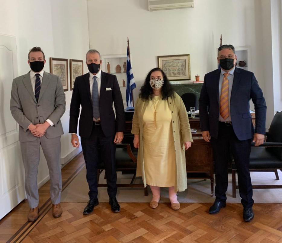 Encuentro de la DAIA con la Embajadora de Grecia