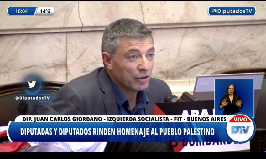 Estupor de la DAIA por las declaraciones del diputado Giordano y por el silencio de los legisladores